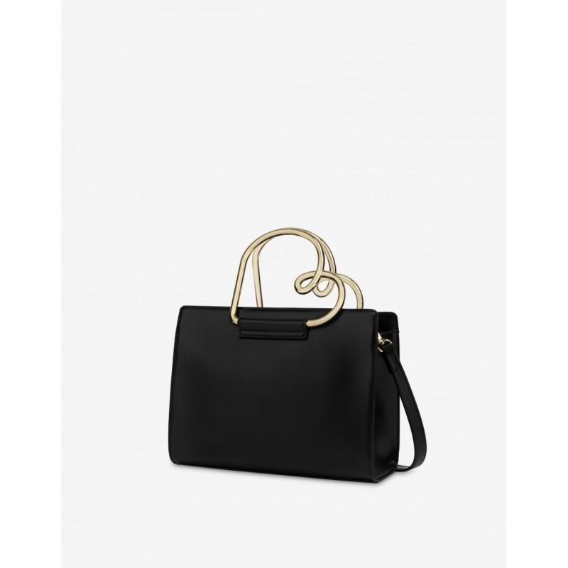 LOVE MOSCHINO Handbag HEART HANDLE - Black