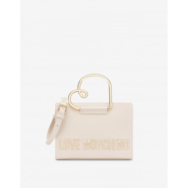 LOVE MOSCHINO Handbag HEART HANDLE - Ivory