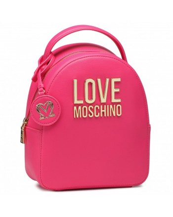 LOVE MOSCHINO - Gold Metal Logo Backpack - Black -