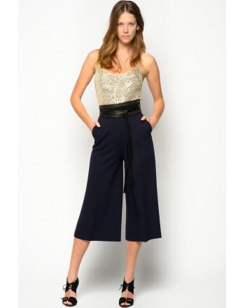 PINKO - Pantalone in Ottoman RIKI - Blu Dipinto