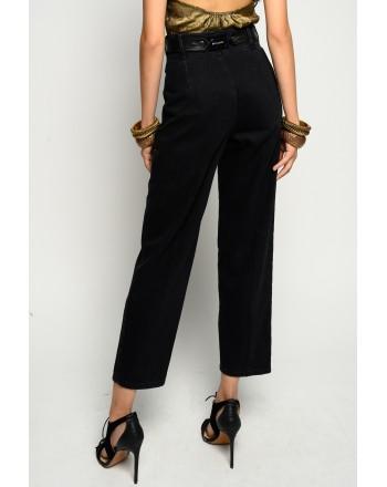 PINKO - Jeans con Cintura Effetto Pelle  SHELBY FASHIONS - Nero
