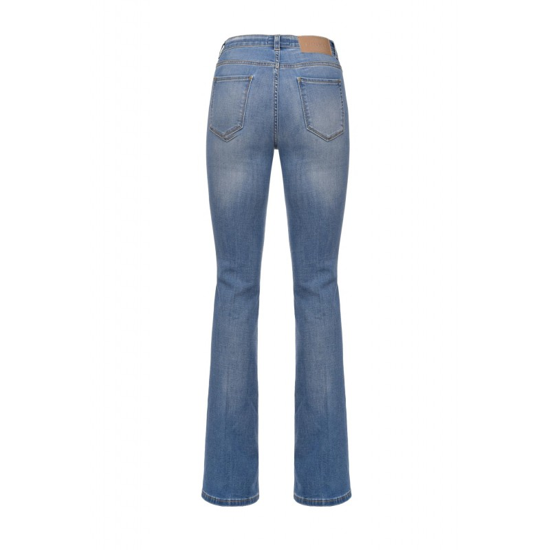PINKO - Jeans  FLORA 12 FLARE - Blu/Zaffiro