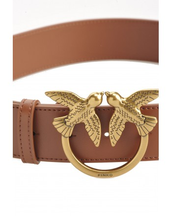 PINKO - BERRY  SIMPLY Belt  - Leather