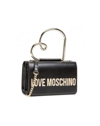 LOVE MOSCHINO - Handbag with heart handle - Black -