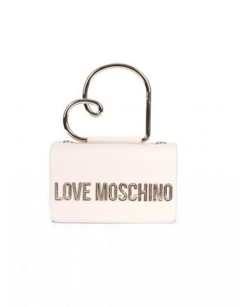 LOVE MOSCHINO - Handbag with heart handle - Ivory -