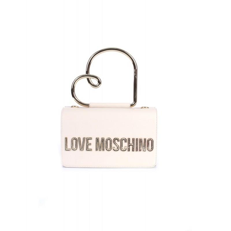 LOVE MOSCHINO -Borsa a mano  con manico a cuore - Avorio -