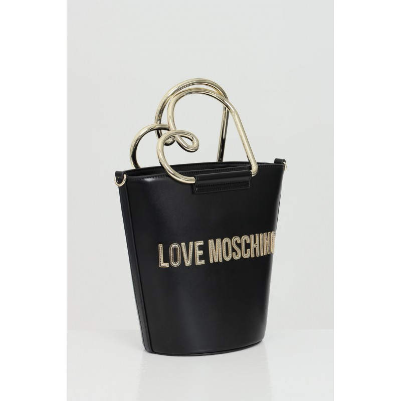 LOVE MOSCHINO - Bucket bag with logo - BLACK
