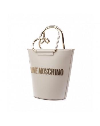 LOVE MOSCHINO - Borsa a secchiello con logo - Avorio -