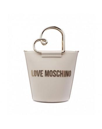 LOVE MOSCHINO - Bucket bag with logo - Ivory -