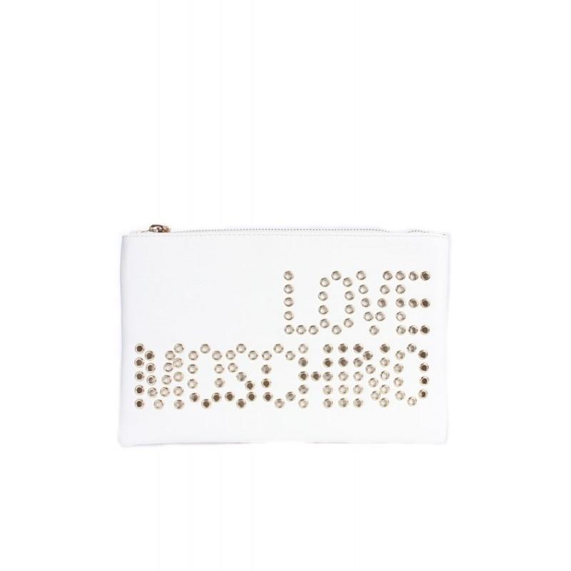 LOVE MOSCHINO - Soft Clutch Studs - White -
