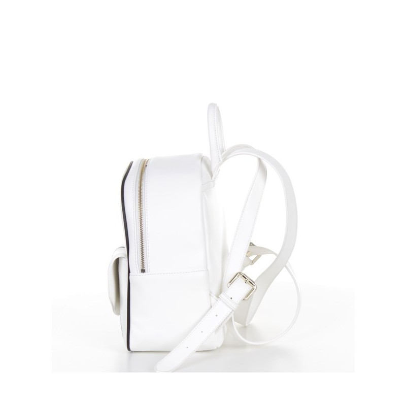 LOVE MOSCHINO - Graffiti Logo Backpack - White/Black