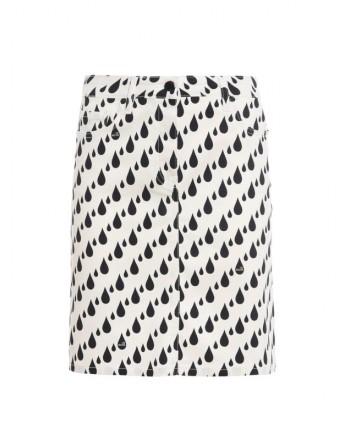 LOVE MOSCHINO Miniskirt with RAIN print - Black / White