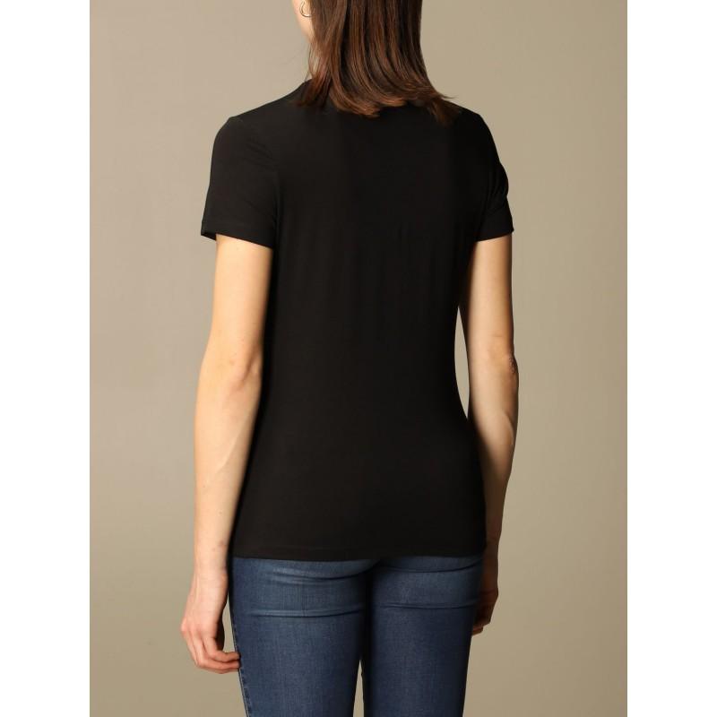 LOVE MOSCHINO - T-shirt  con logo di strass - Nero