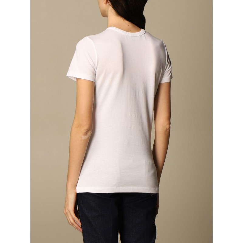 LOVE MOSCHINO - T-shirt stampa  ALL OVER DROPS - Bianco