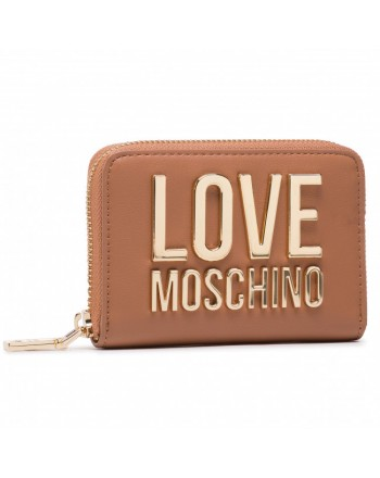 LOVE MOSCHINO - Portafoglio piccolo Logo Moschino - Cuoio -