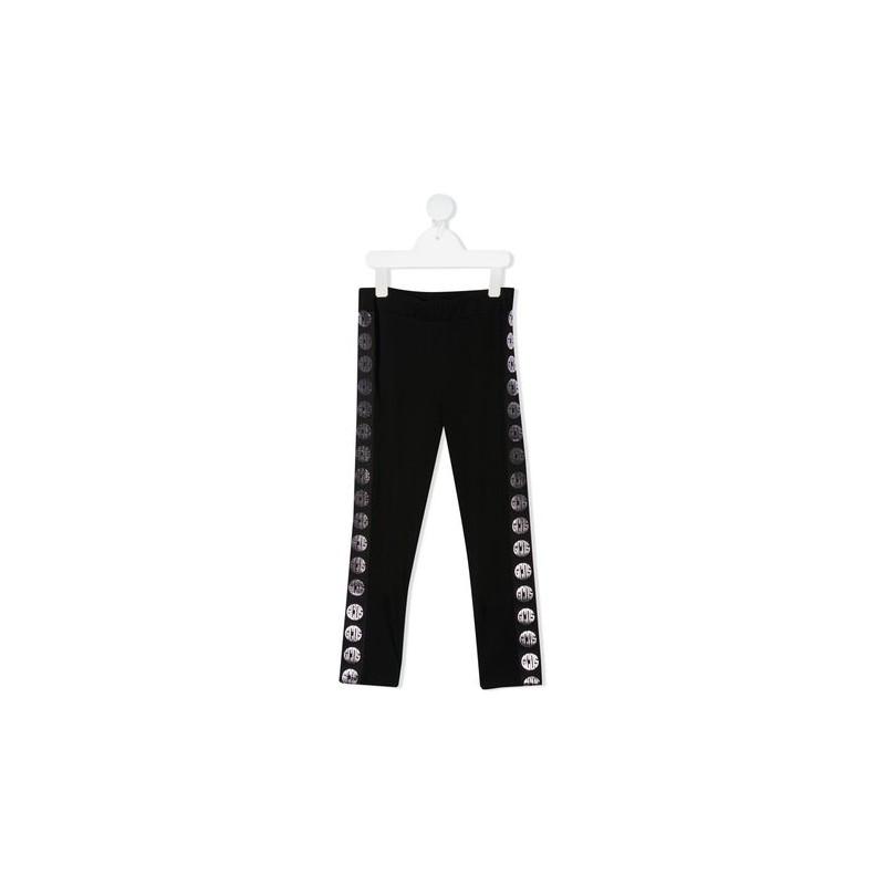 GCDS Mini - Leggings with logo - Black