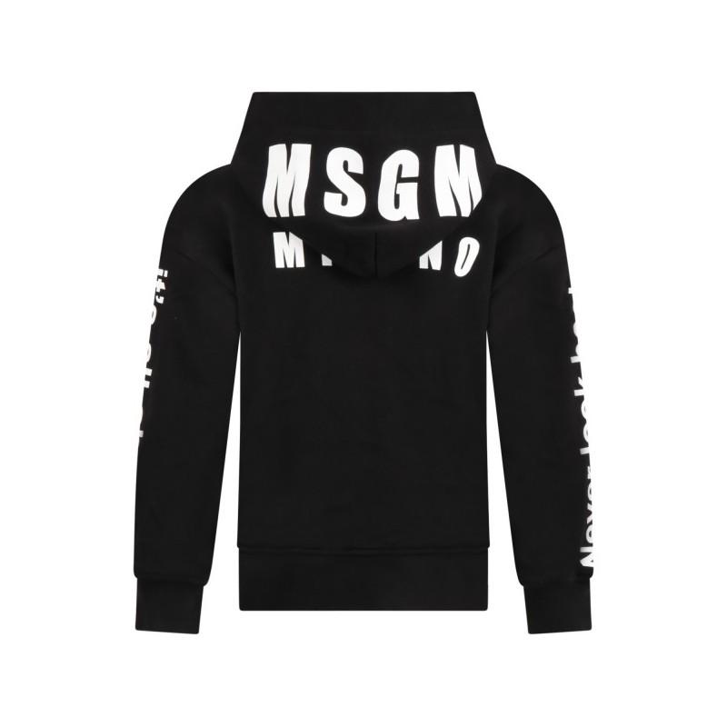 MSGM Baby - SWEATSHIRT WITH LOGO - Black