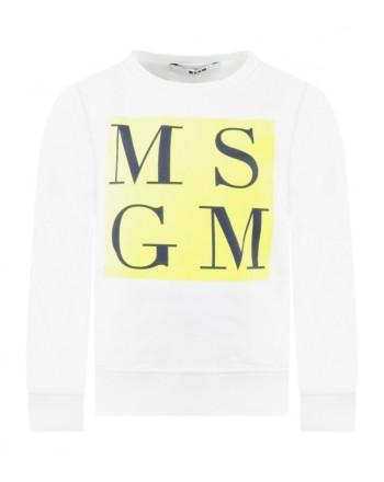 MSGM Baby - LOGO SWEATSHIRT - White