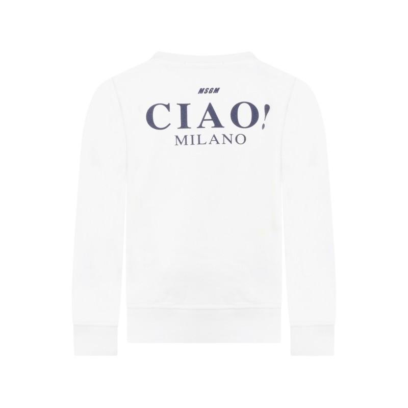 MSGM Baby - FELPA CON LOGO  - Bianco