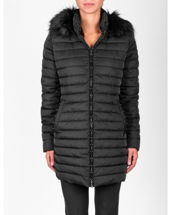 EMPORIO ARMANI - Quilted jacket with hood - Black