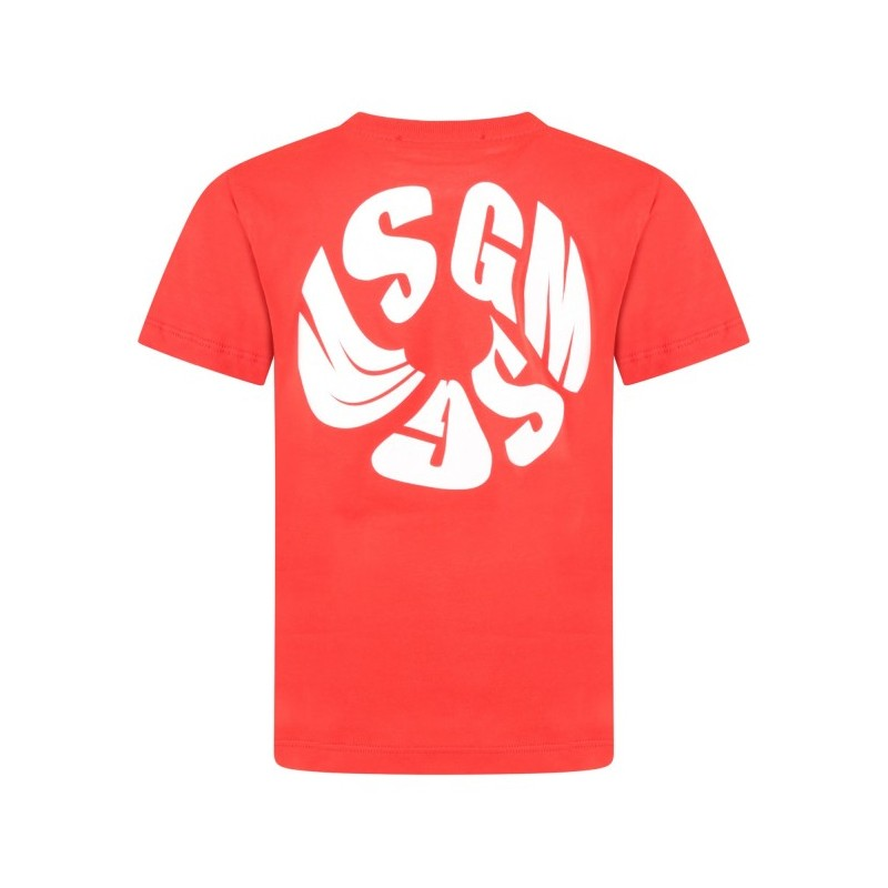MSGM Baby -  T-shirt with logo - Red