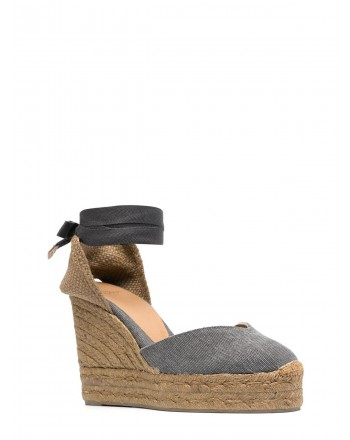 CASTANER - CHIARA Wedges Espadrilles - Charcoal