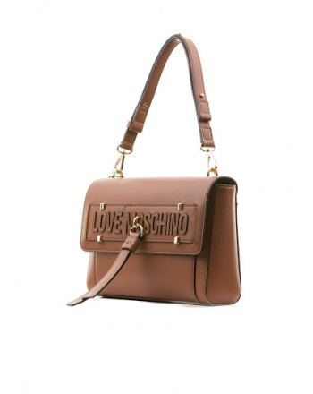 LOVE MOSCHINO - Shoulder bag with chain and flat handle - Black