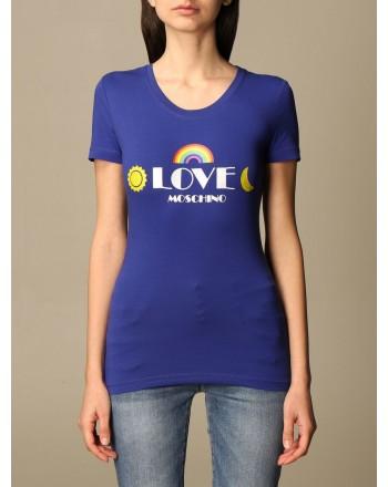 LOVE MOSCHINO - T-shirt with logo print - Blue