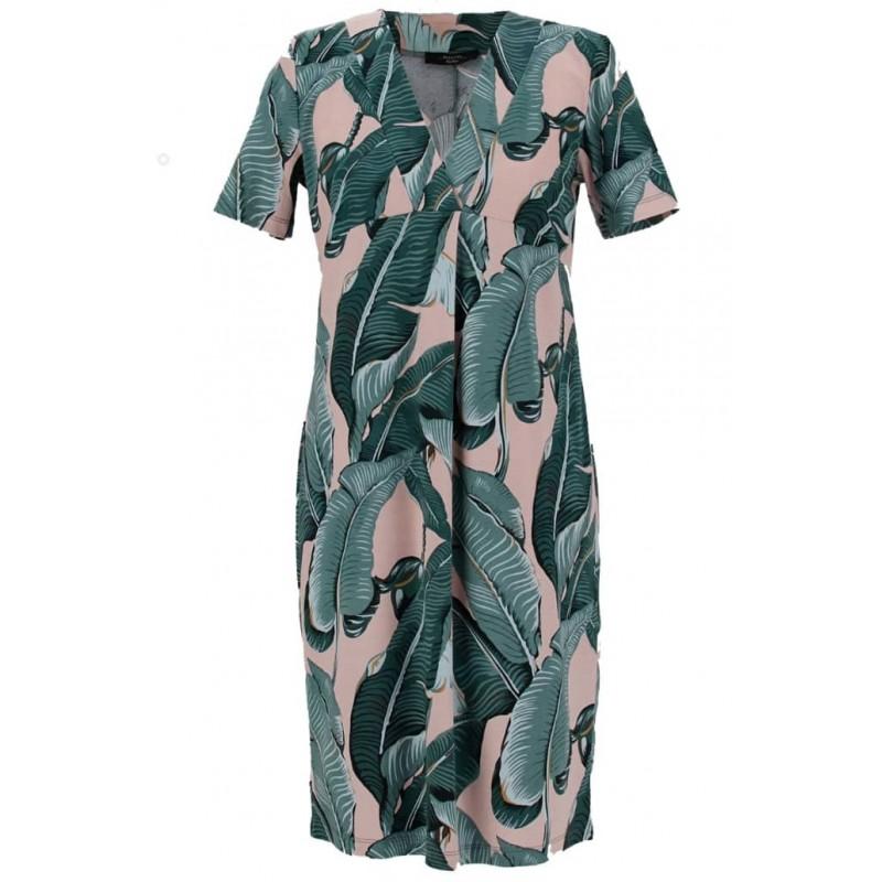 WEEKEND MAX MARA - ZURIGO Jersey Dress - Pink/Palm