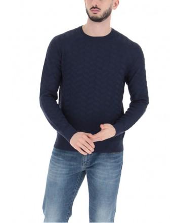 EMPORIO ARMANI - Viscose Sweater 3K1MX1 - Blue