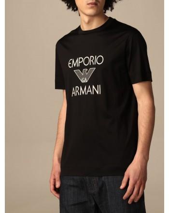 EMPORIO ARMANI - T-shirt in cotone con logo 3K1TAF - Nero