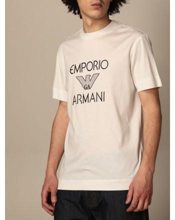EMPORIO ARMANI - T-shirt in cotone con logo 3K1TAF - Bianco