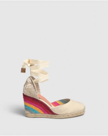 CASTANER - Espadrillas  CARINA Capsule PAUL SMITH  -Ivory