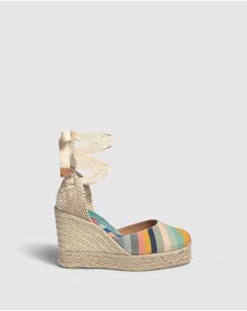 CASTANER - Espadrillas  CARINA con Zeppa  Capsule PAUL SMITH  -Multicolor