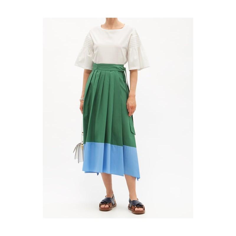 WEEKEND MAX MARA -  OBLARE Two Tones Skirt - Leaf