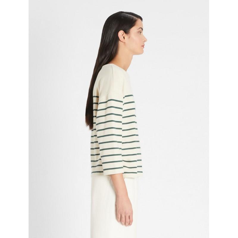 WEEKEND MAX MARA -  ESTELLA Cotton Striped Knit - GreggioFicus