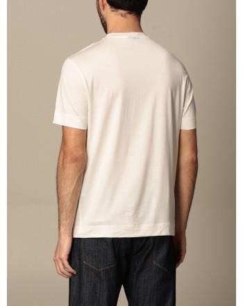 EMPORIO ARMANI - T-shirt in cotone con logo gommato 3K1TAG - Bianco -