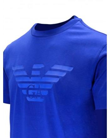 EMPORIO ARMANI - Cotton T-shirt with rubberized logo 3K1TAG - Overseas -