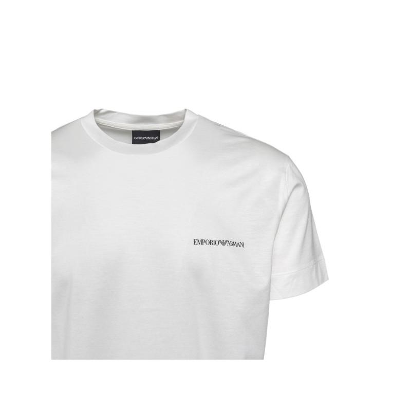 EMPORIO ARMANI -  T-Shirt girocollo Logo Piccolo 3K1TF3 - Bianco -