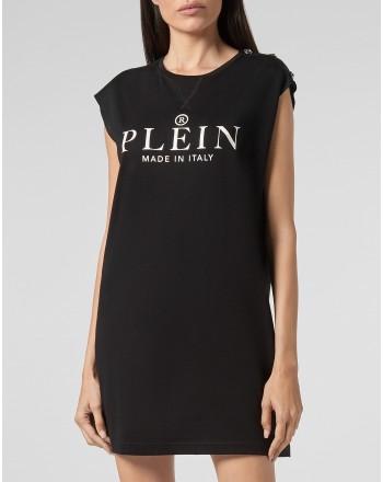 PHILIPP PLEIN - Abito t-shirt iconico PLEIN WTG0362 - Nero