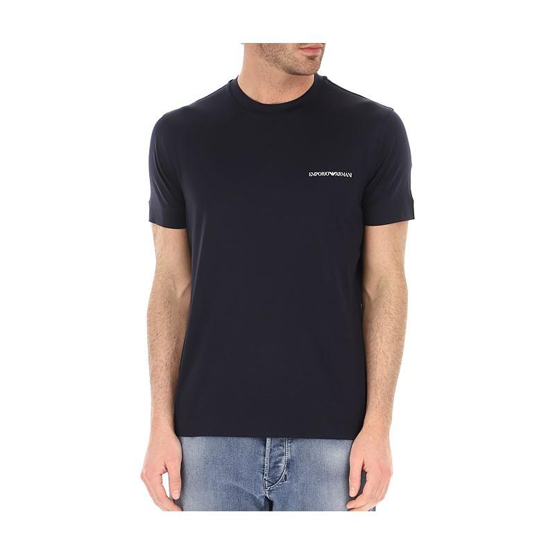 EMPORIO ARMANI - Crewneck T-Shirt Small Logo 3K1TF3 - Navy -