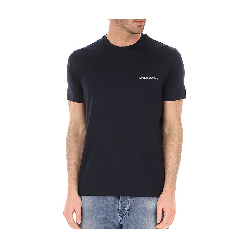 EMPORIO ARMANI -  T-Shirt girocollo Logo Piccolo 3K1TF3 - Navy -