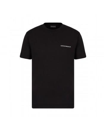 EMPORIO ARMANI -  T-Shirt girocollo Logo Piccolo 3K1TF3 - Nero -
