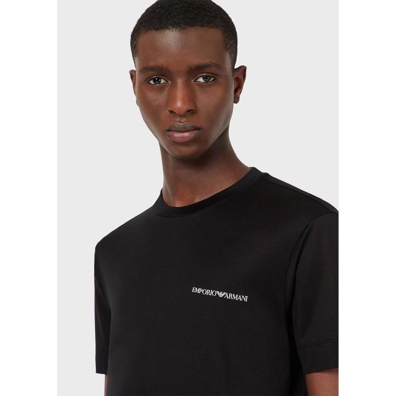 EMPORIO ARMANI - Crewneck T-Shirt Small Logo 3K1TF3 - Black -