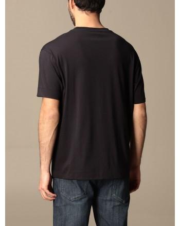 EMPORIO ARMANI - T-shirt in cotone logo grande 3K1TC0 - Navy -