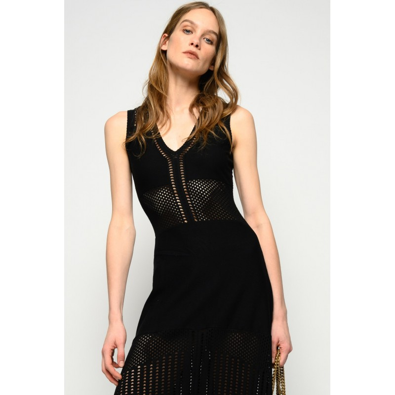 PINKO - DRESS CAPITANO - BLACK
