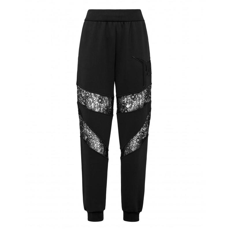 PHILIPP PLEIN - Pants Jogging Lace WJT1389 - Black