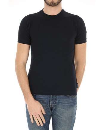 EMPORIO ARMANI - Round neck T-shirt 8N1M8A - Blue -