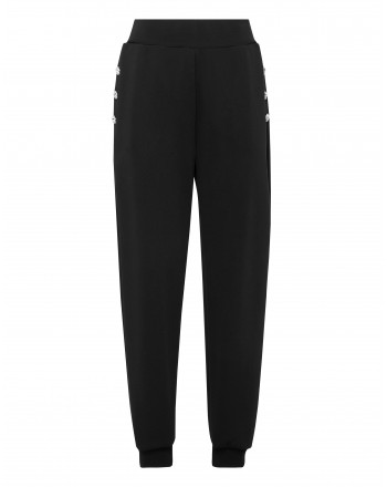 PHILIPP PLEIN - Pantaloni Jogging Bottoni Metallo WJT1384 - Nero