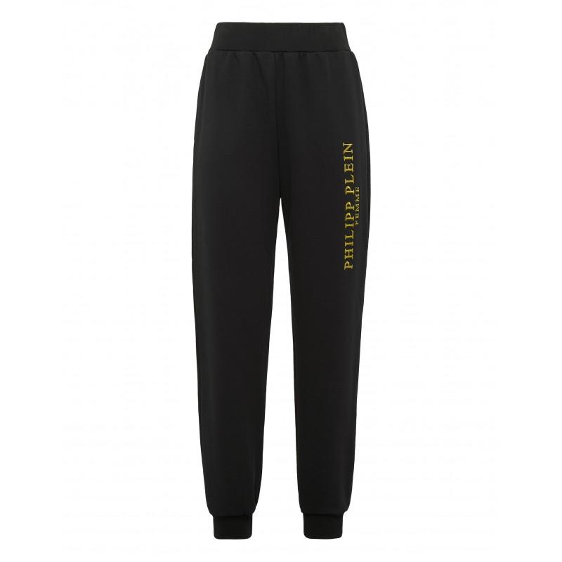 PHILIPP PLEIN - Iconic Plein Gold Joggigin Pants WJT1382 - Black